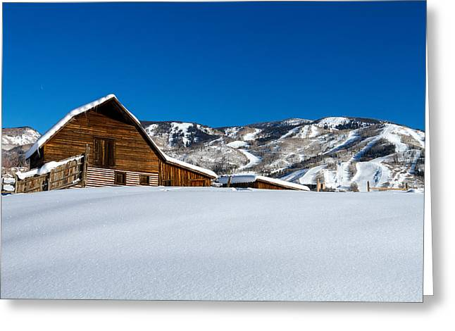 Steamboat Springs Barn Greeting Card