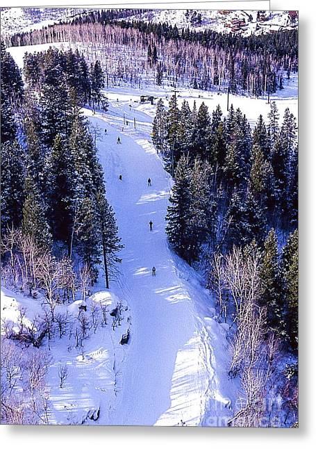 Steamboat Springs Colorado Ski Trail. Greeting Card