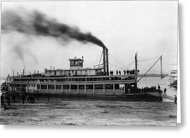 Steamboat Tarascon, C1870 Greeting Card