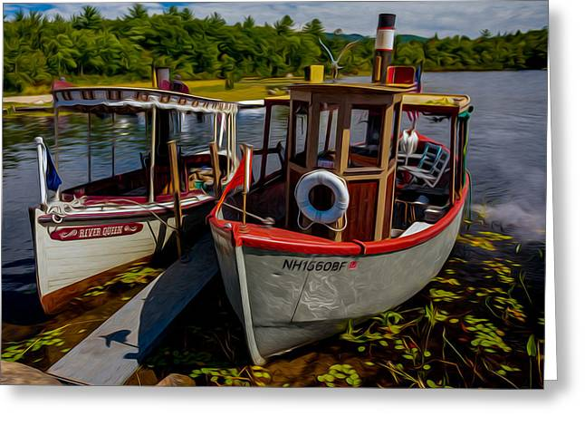 Steamboats On The Lake Greeting Card