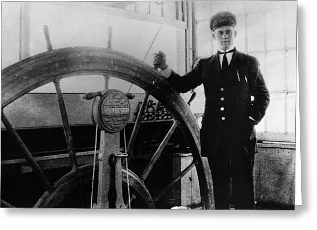 Steamer Captain, 1912 Greeting Card by Granger