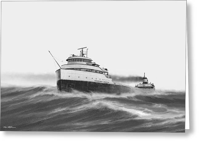Steamer Courtney Burton Greeting Card by Captain Bud Robinson