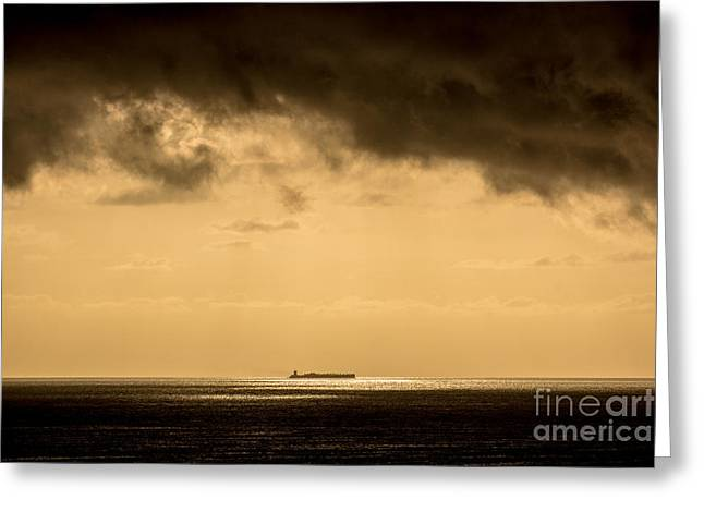 Steaming Thru The Sunrise Greeting Card by Rene Triay Photography