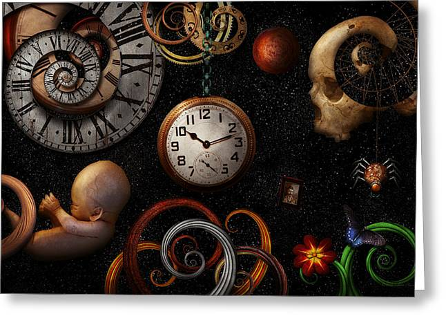 Steampunk - Abstract - The Beginning And End Greeting Card