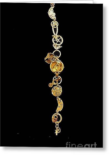 Steampunk Bracelet I Greeting Card by Elizabeth Hoskinson