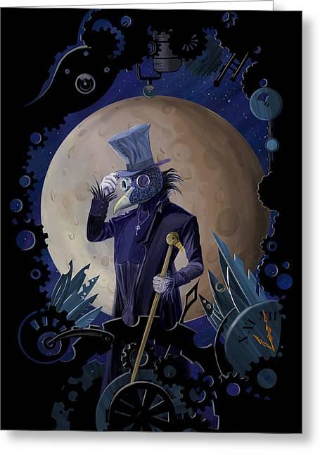 Steampunk Crownman Greeting Card