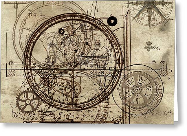 Steampunk Dream Series IIi Greeting Card