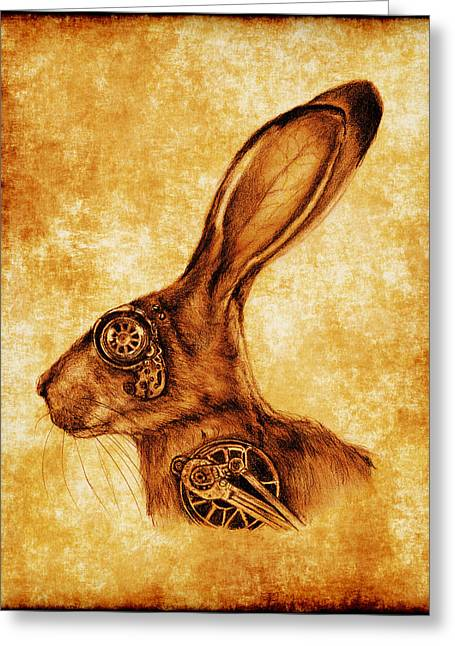 Steampunk Jack Greeting Card by Penny Collins