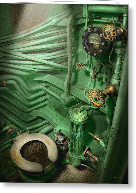 Steampunk - Naval - Plumbing - The Head Greeting Card