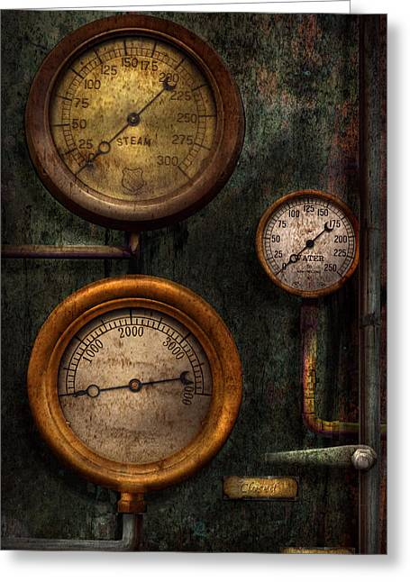 Steampunk - Plumbing - Gauging Success Greeting Card