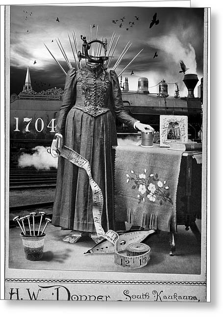 Steampunk Stitches Greeting Card by Robert Hudnall