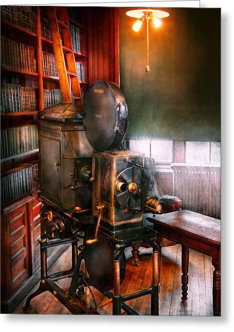 Editor Photographs Greeting Cards - Steampunk - The Golden age of Cinema Greeting Card by Mike Savad