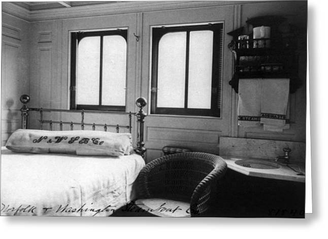 Steamship Cabin, C1900 Greeting Card