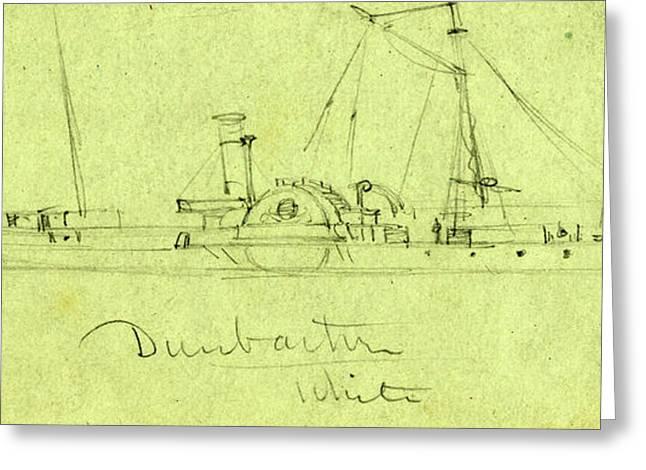 Steamship Dunbarton, Between 1860 And 1865 Greeting Card