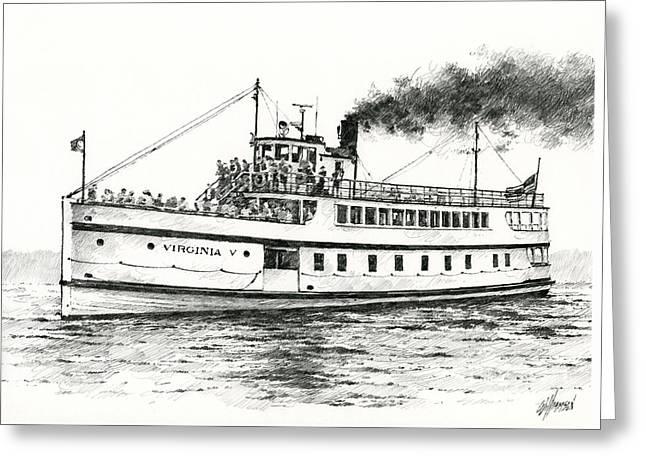 Steamship Virginia V Greeting Card by James Williamson