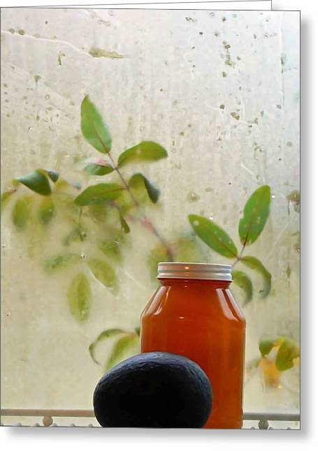 Steamy Window Greeting Card by Pamela Patch