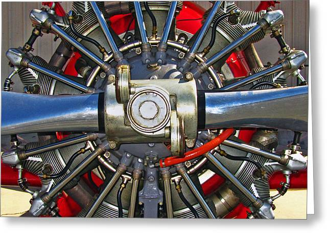 Stearman Engine Greeting Card by Dale Jackson