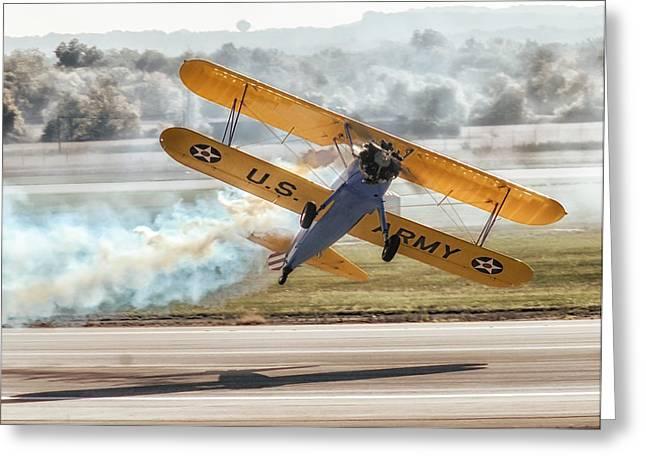 Stearman Model 75 Biplane Greeting Card