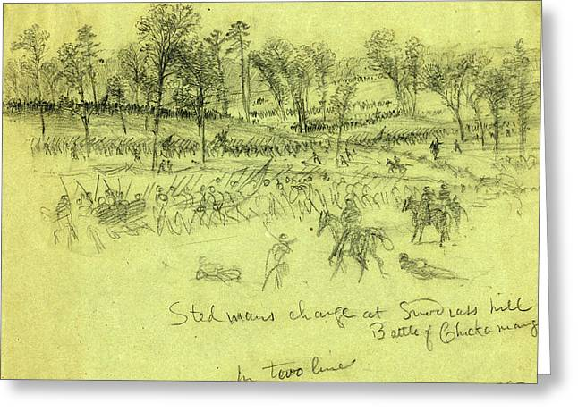 Steedmans Charge At Snodgrass Hill, Battle Of Chickamauga Greeting Card