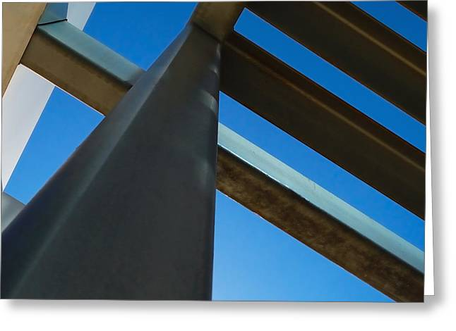 Steel Blue - Industrial Abstract Greeting Card by Steven Milner