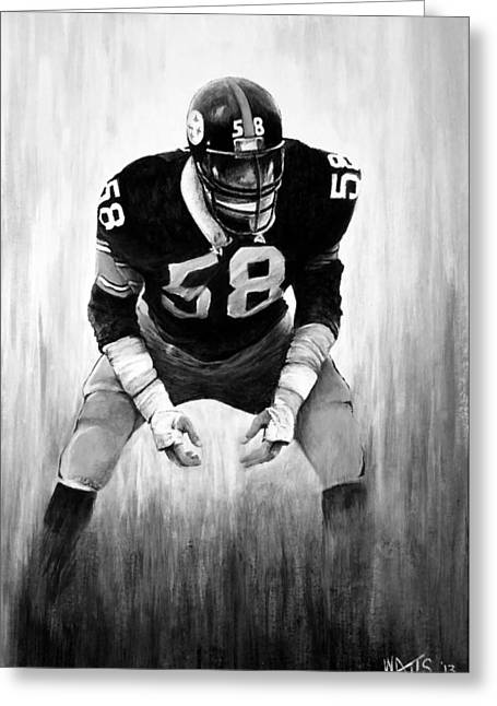 Steel Curtain In Black And White Greeting Card