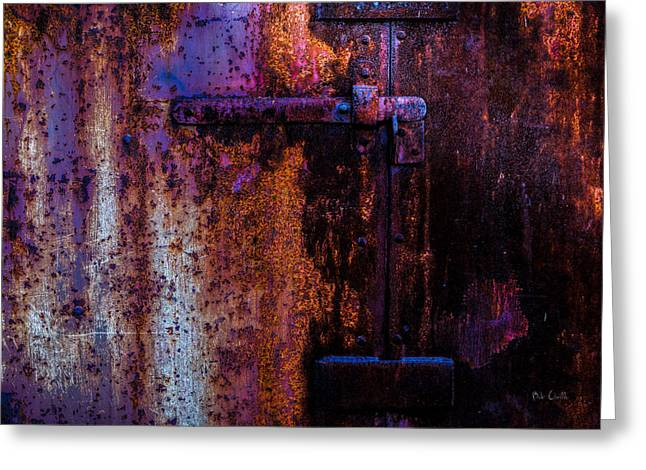 Steel Door Number Two Greeting Card by Bob Orsillo