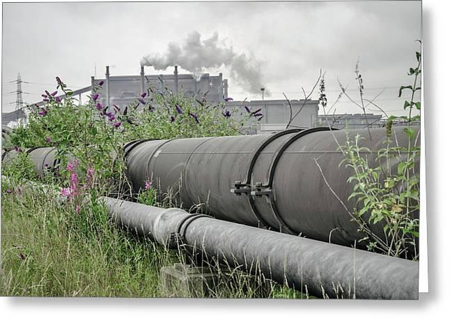 Steel Industry Greeting Card by Robert Brook