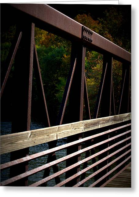 Greeting Card featuring the photograph Steel Lines by Cathy Shiflett