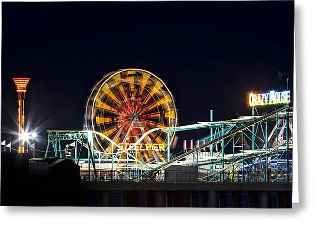 Steel Pier Greeting Card by Eduard Moldoveanu