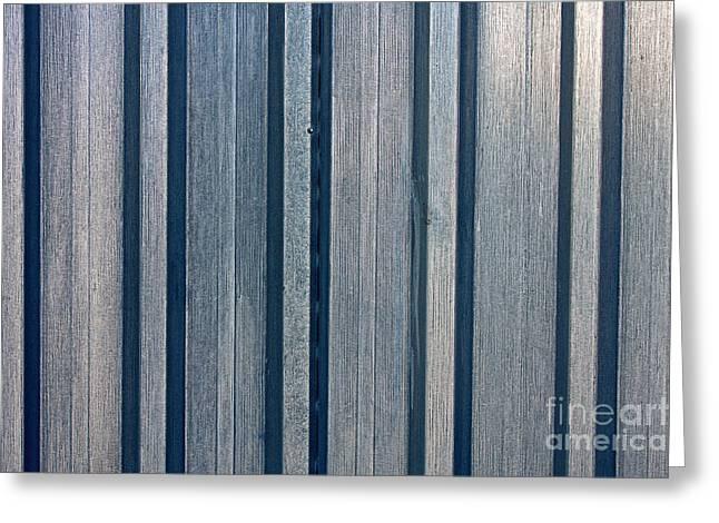 Steel Sheet Piling Wall Greeting Card