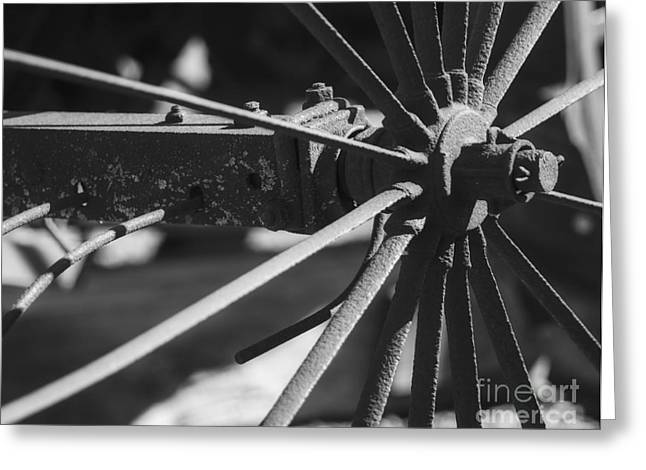Greeting Card featuring the photograph Steel Wagon Wheel by JRP Photography