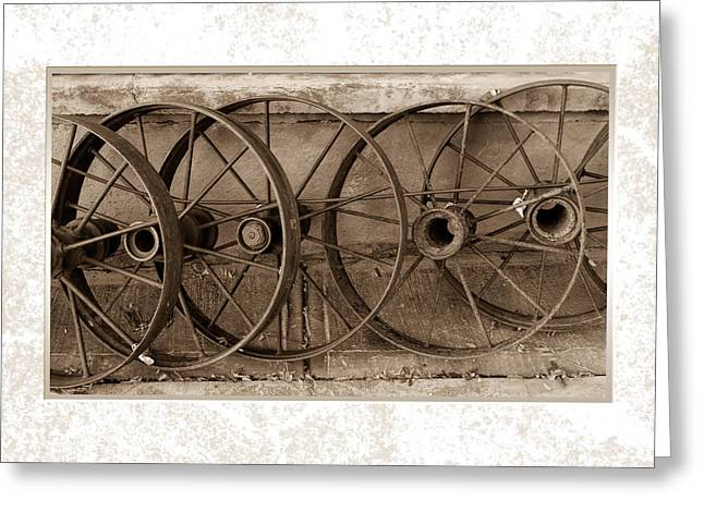 Steel Wheels Greeting Card
