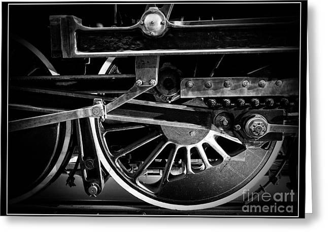 Steel Wheels - Steam Train Drivers Greeting Card by Edward Fielding
