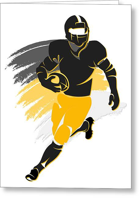 Steelers Shadow Player2 Greeting Card by Joe Hamilton