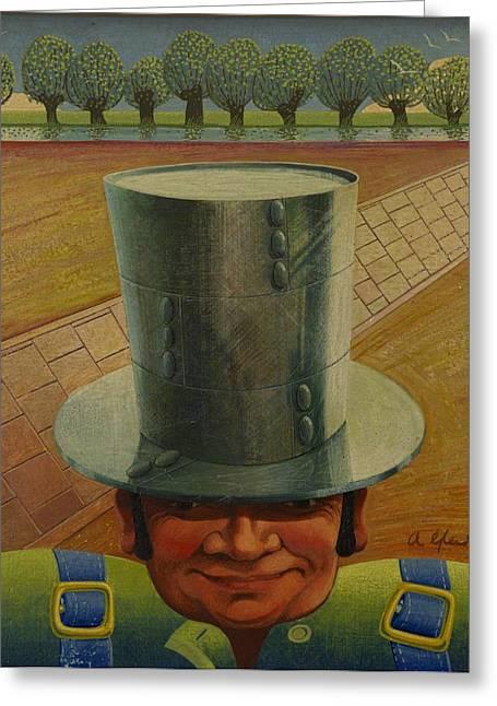 Steely Dan The Straightway Man Greeting Card by Arthur Glendinning