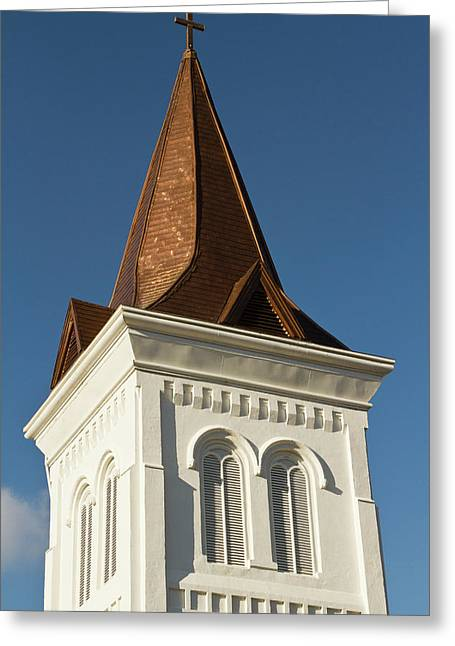 Steeple Of Historic First United Greeting Card