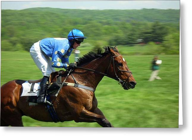 Steeplechase Greeting Card