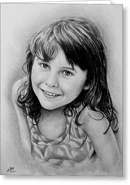 Stefanie Greeting Card by Andrew Read