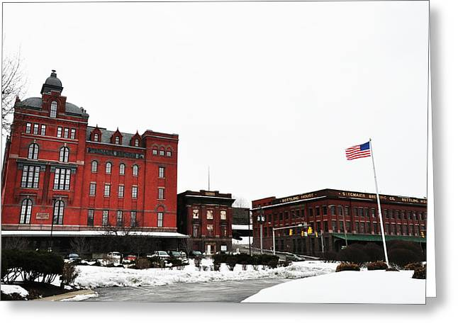 Stegmaeir Brewery - Wilkes Barre Pa Greeting Card by Bill Cannon