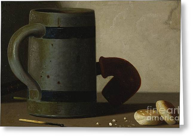Stein And Biscuits Greeting Card by Celestial Images