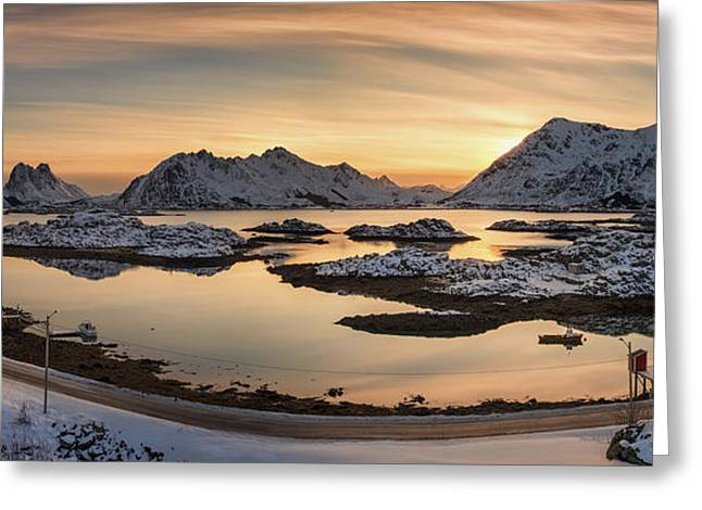 Steinefjord At Sunset, Lofoten Greeting Card