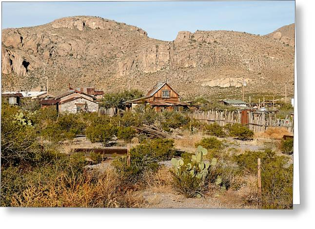 Steins Ghost Town Greeting Card by Gordon Beck
