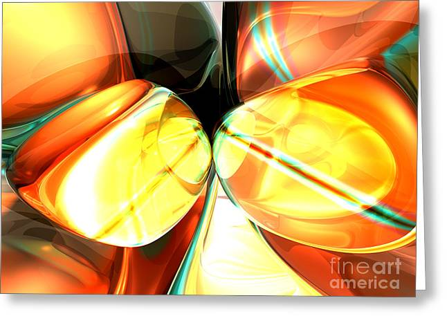 Stellar Forces Abstract Greeting Card
