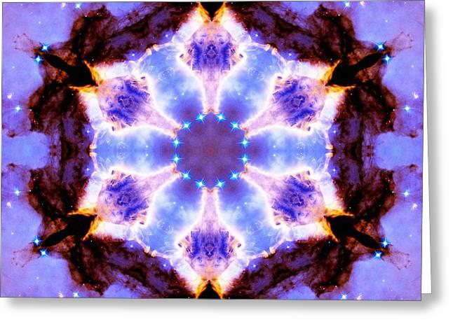 Stellar Spiral Eagle Nebula IIi Greeting Card by Derek Gedney