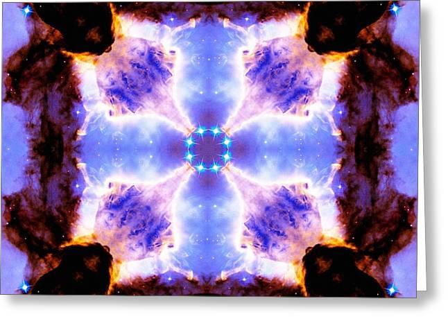 Stellar Spiral Eagle Nebula V Greeting Card by Derek Gedney