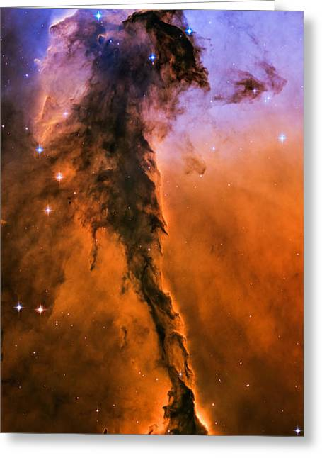 Stellar Spire In The Eagle Nebula Greeting Card by Marco Oliveira