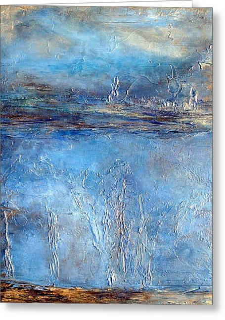 Stellar Wind Abstract Textured Painting Greeting Card