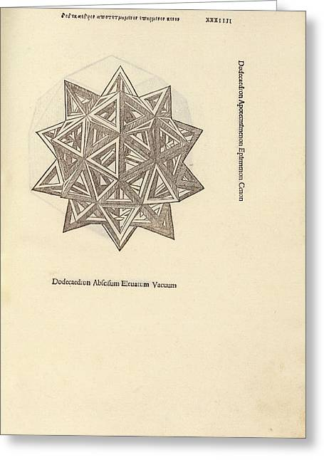Stellated Dodecahedron Greeting Card by Library Of Congress