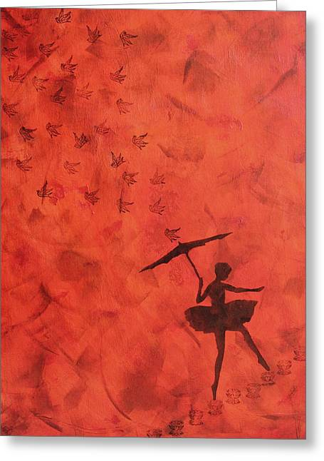 Stencil Ballerina Greeting Card