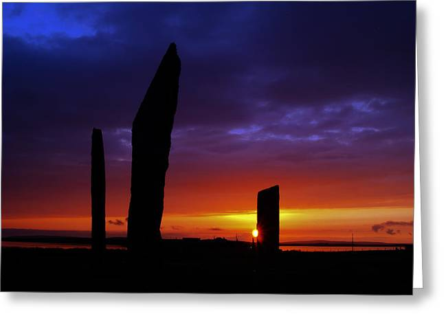 Stennes Sunset Greeting Card by Steve Watson
